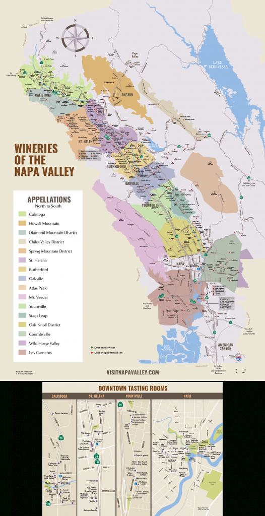 Napa Valley Winery Map | Plan Your Visit To Our Wineries regarding Napa Winery Map Printable