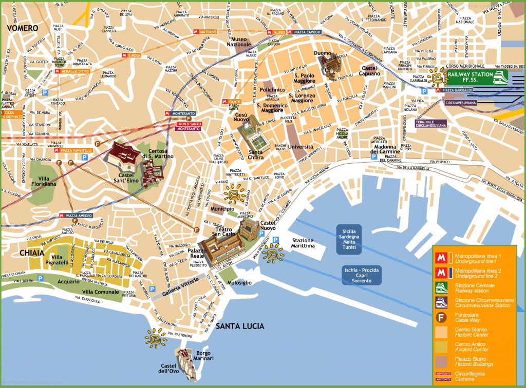 Naples Maps | Italy | Maps Of Naples (Napoli) inside Printable Street Map Of Naples Florida