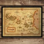 Narnia Map Narnia Art Print C S Lewis Fantasy Map | Etsy Regarding Printable Map Of Narnia