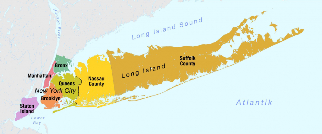 Nassau And Suffolk County Map - Nassau County Suffolk County Border throughout Printable Map Of Long Island