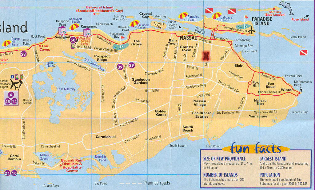 Nassau Map - Falsomesias pertaining to Printable Map Of Nassau Bahamas