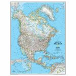 National Geographic Us Map Printable Best North America Classic Regarding National Geographic Printable Maps