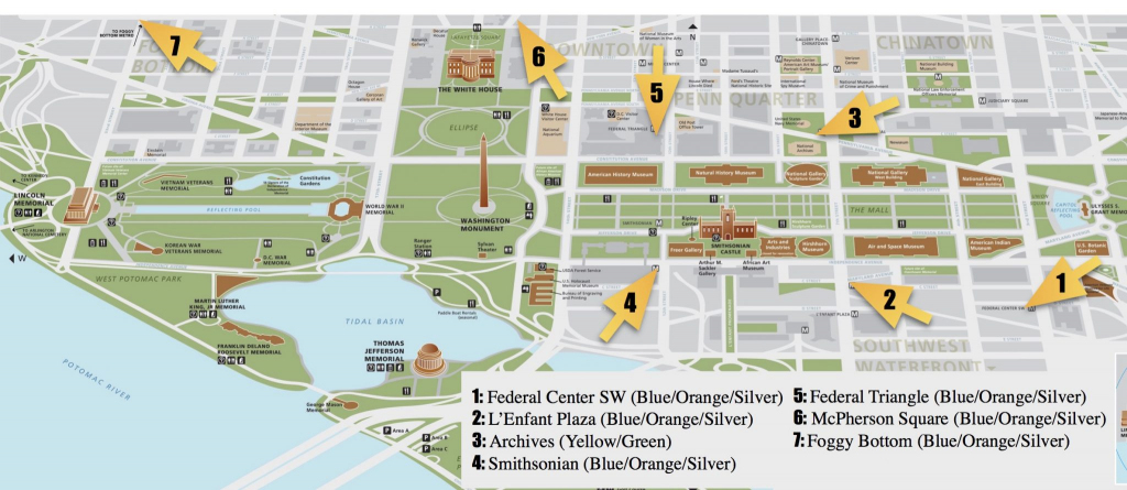 National Mall Guide And Things To Do | Free Toursfoot inside Printable Map Of The National Mall Washington Dc