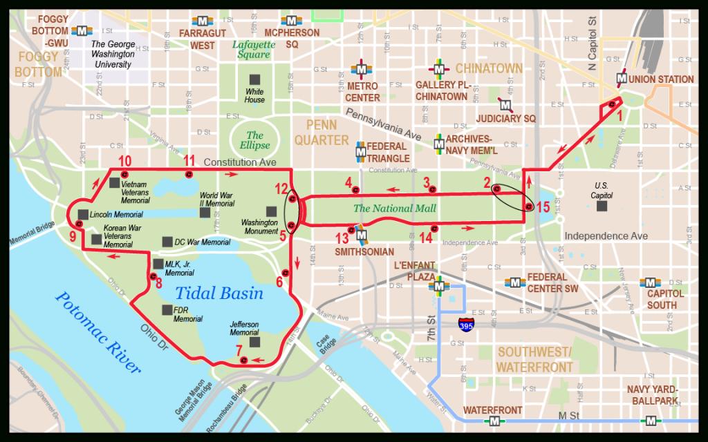 National Mall - Washington D.c. Circulator inside Printable Map Of The National Mall Washington Dc