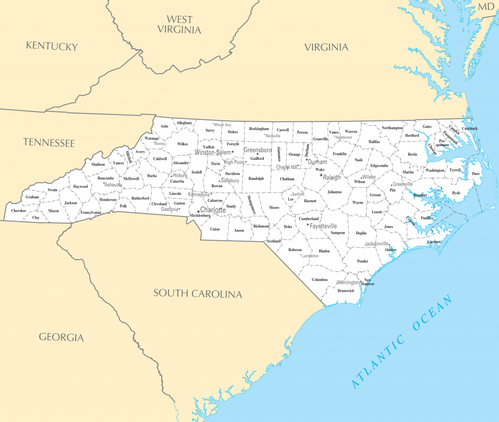 Nc Map Of Towns And Travel Information | Download Free Nc Map Of Towns for Printable Map Of North Carolina Cities