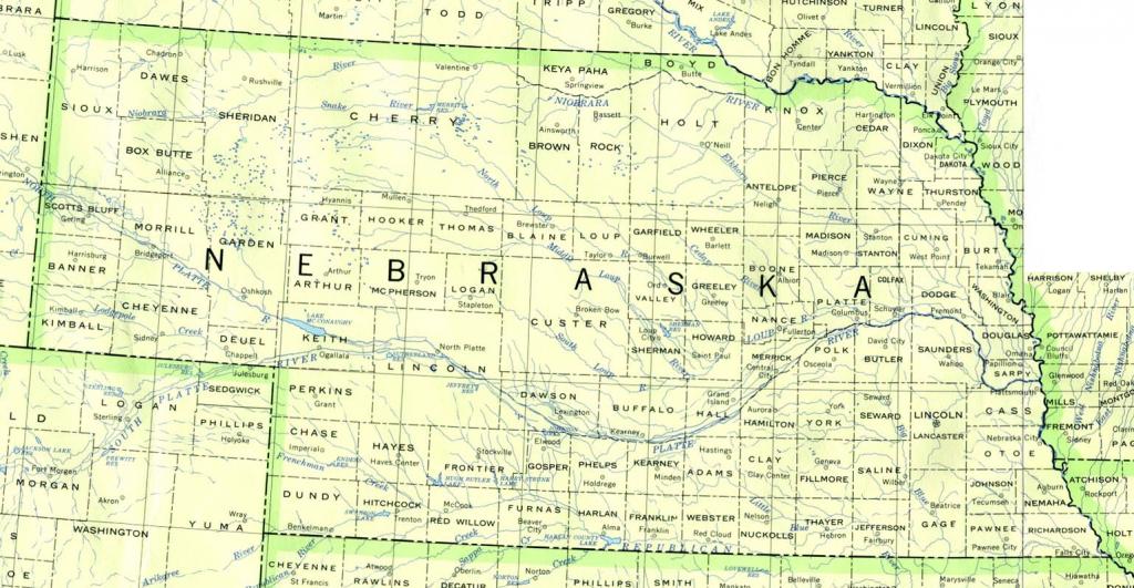 Nebraska Maps - Perry-Castañeda Map Collection - Ut Library Online with regard to Printable Map Of Nebraska
