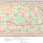 Nebraska Printable Map Pertaining To Printable Road Map Of Nebraska