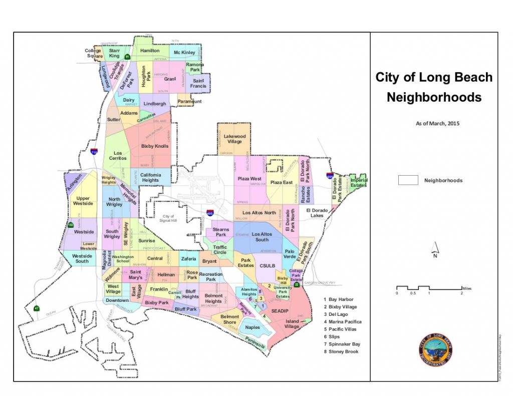 Neighborhoods Of Long Beach, California - Wikipedia inside Printable Map Of Long Beach Ca