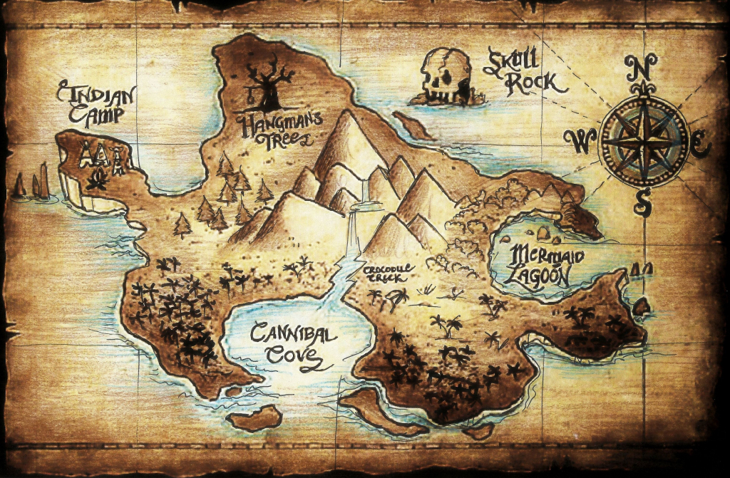 Neverland Map - Google Search | Arts And Crafts | Peter Pan Disney inside Neverland Map Printable