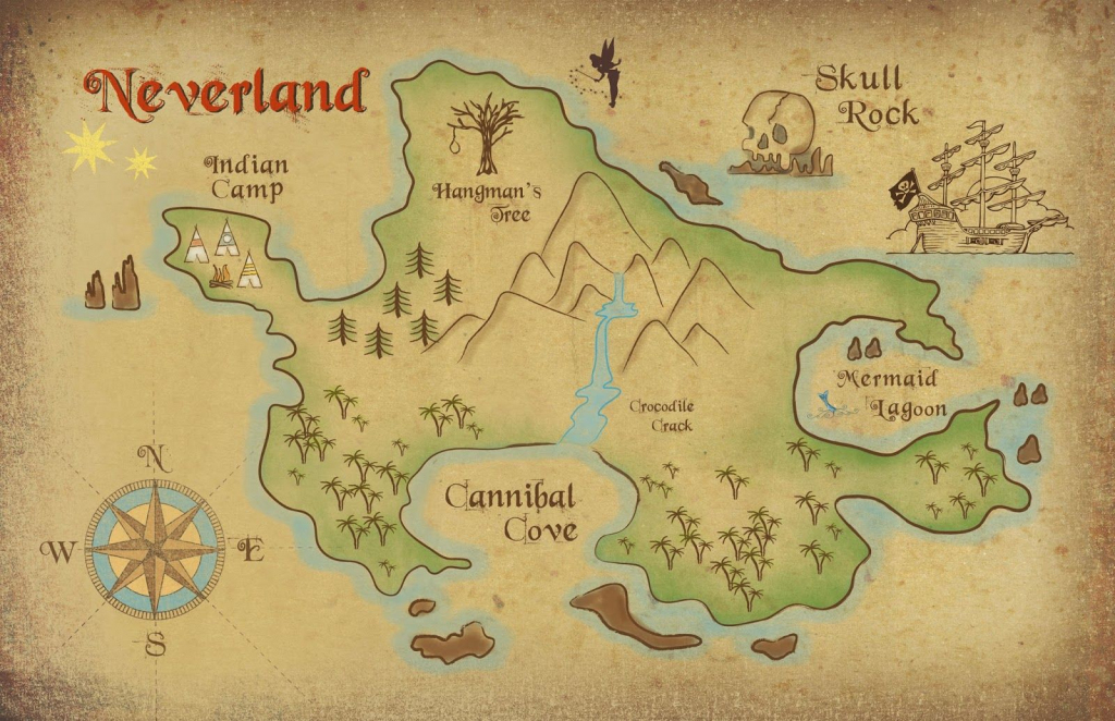 Neverland Map Printable | Freebie! Neverland Map Download | Parents inside Neverland Map Printable