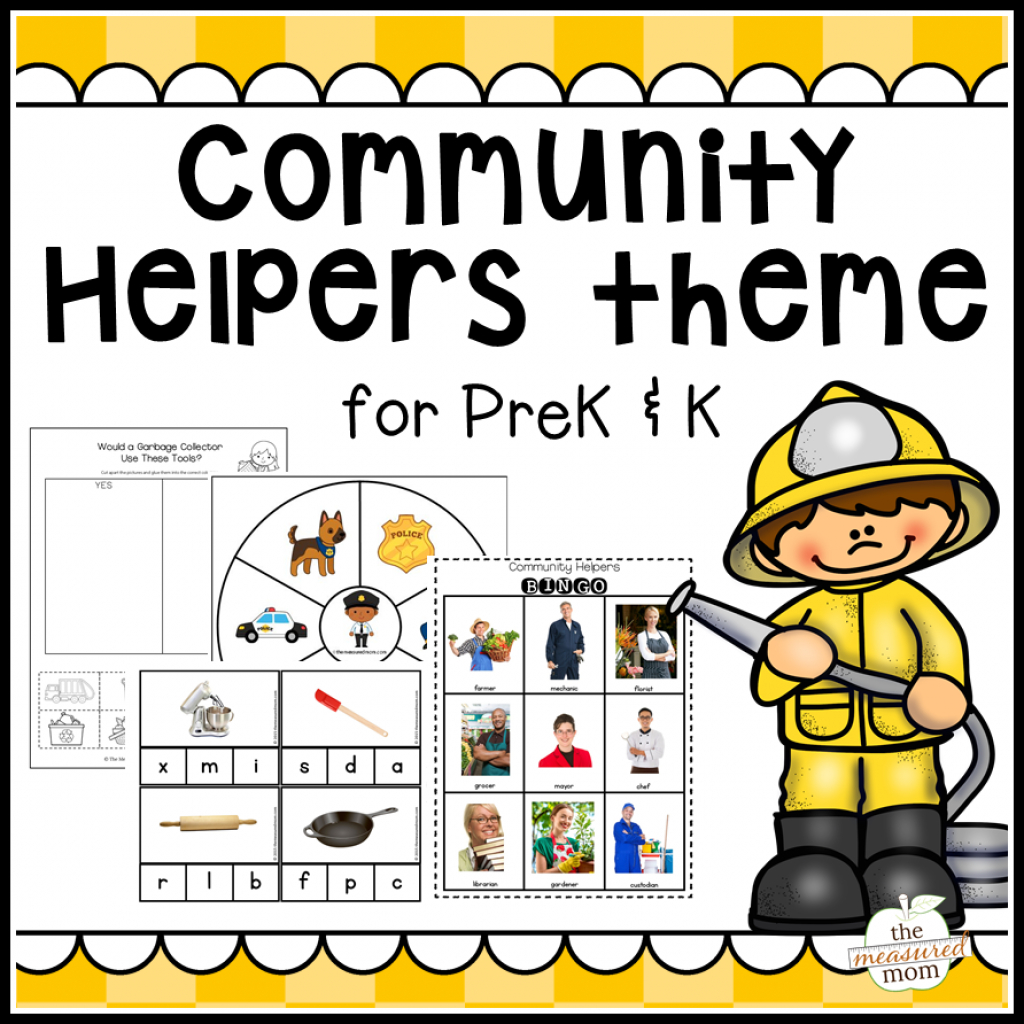 New! Community Helpers Theme Pack! - The Measured Mom in Community Map For Kids Printable