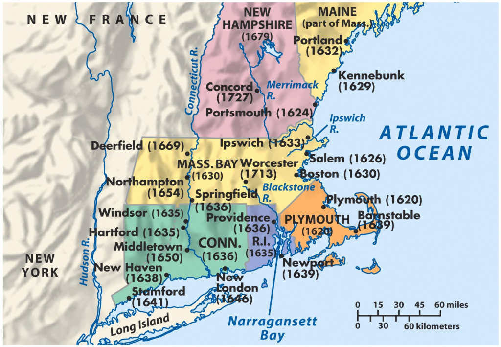 New England Political Map And Travel Information | Download Free New for Printable Map Of New England