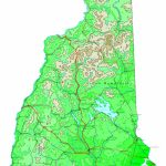 New Hampshire Contour Map For New Hampshire State Map Printable