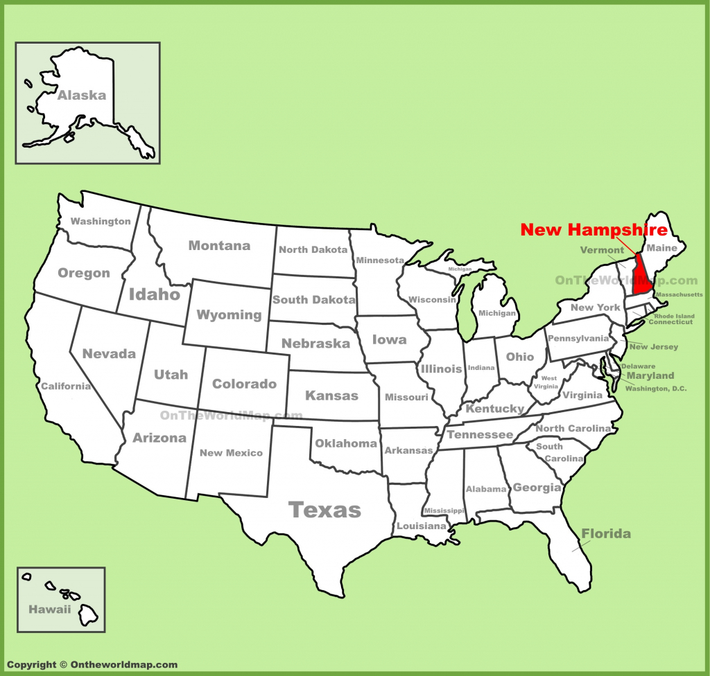 New Hampshire State Maps | Usa | Maps Of New Hampshire (Nh) for New Hampshire State Map Printable