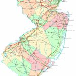 New Jersey Printable Map With Regard To Printable Map Of New Jersey