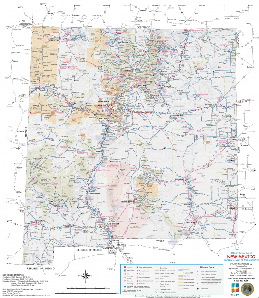 New Mexico State Maps | Usa | Maps Of New Mexico (Nm) intended for Printable Map Of New Mexico