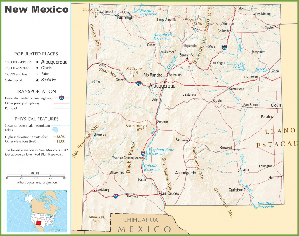 New Mexico State Maps | Usa | Maps Of New Mexico (Nm) with Printable Map Of New Mexico