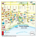 New Orleans French Quarter Map And City Guide Red Maps Pictures 1000 For Printable French Quarter Map