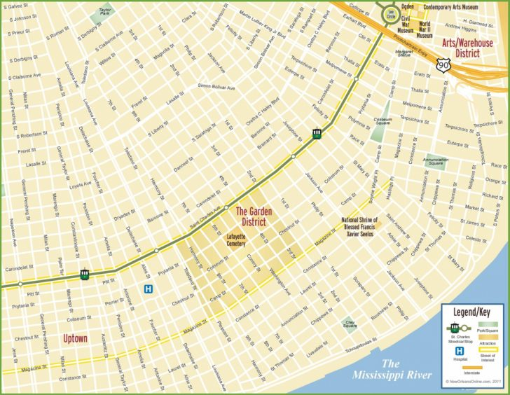 Printable Map Of New Orleans
