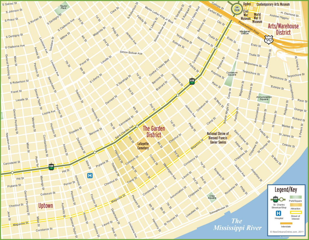 New Orleans Maps   Louisiana, U.s.   Maps Of New Orleans intended for Printable Map Of New Orleans