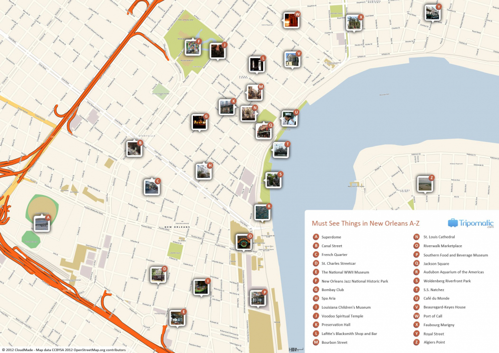 New Orleans Printable Tourist Map | Free Tourist Maps ✈ | New with Printable Walking Map Of New Orleans