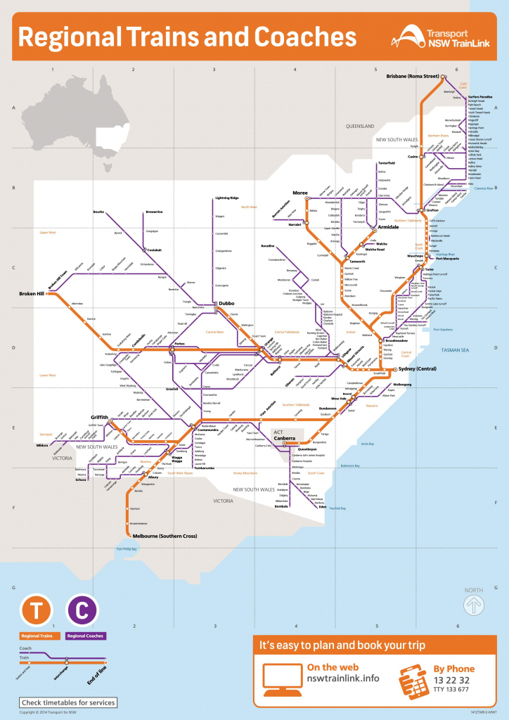 New South Wales State Maps | Australia | Maps Of Nsw (New South Wales) in Printable Map Of Nsw