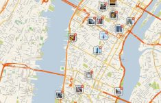 New York City Manhattan Printable Tourist Map | Places I'd Like To with Printable Map Of Times Square