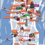 New York City Most Popular Attractions Map With Printable Map Of New York City Landmarks