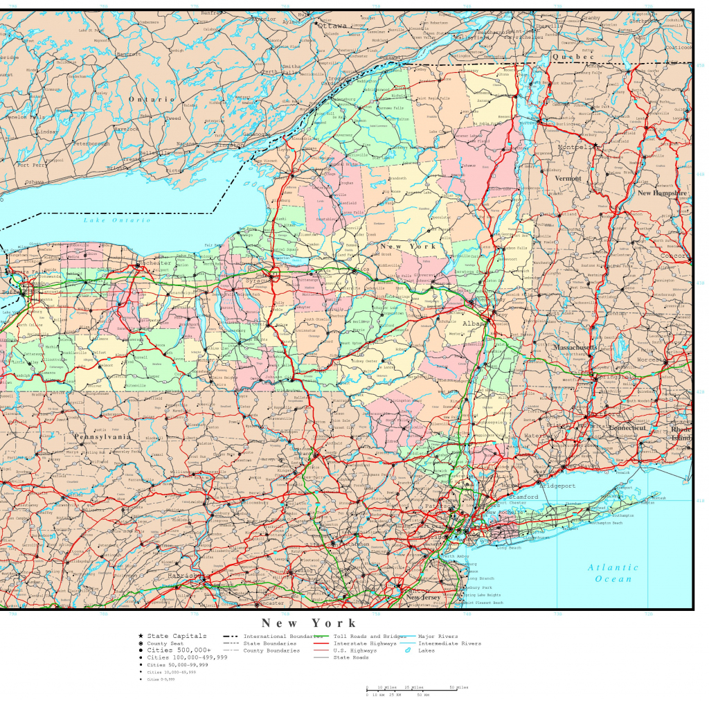 New York Map - Online Maps Of New York State for Road Map Of New York State Printable
