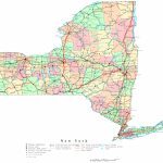 New York Printable Map For Printable Map Of New York State