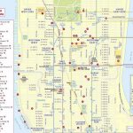 New York Top Tourist Attractions Map 12 Midtown Manhattan In For Map Of Midtown Manhattan Printable