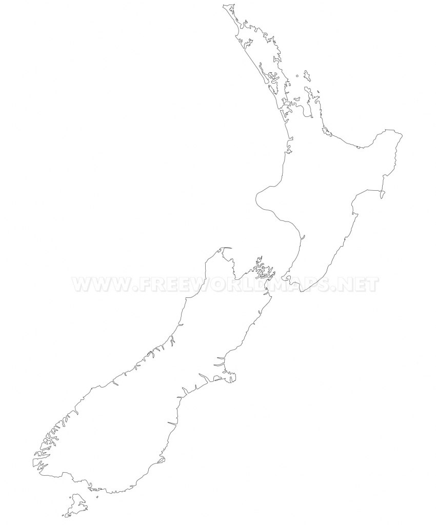 New Zealand Political Map inside Outline Map Of New Zealand Printable