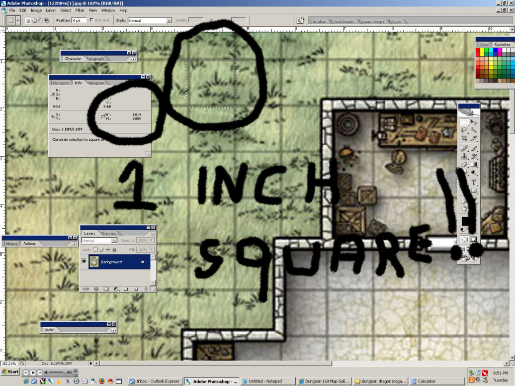 Newbiedm Tutorial – Printing Battle Maps To A 1″ Scale | Www. Newbie intended for D&d Printable Maps