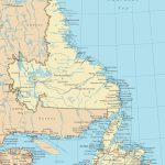Newfoundland And Labrador Road Map Pertaining To Printable Map Of Newfoundland