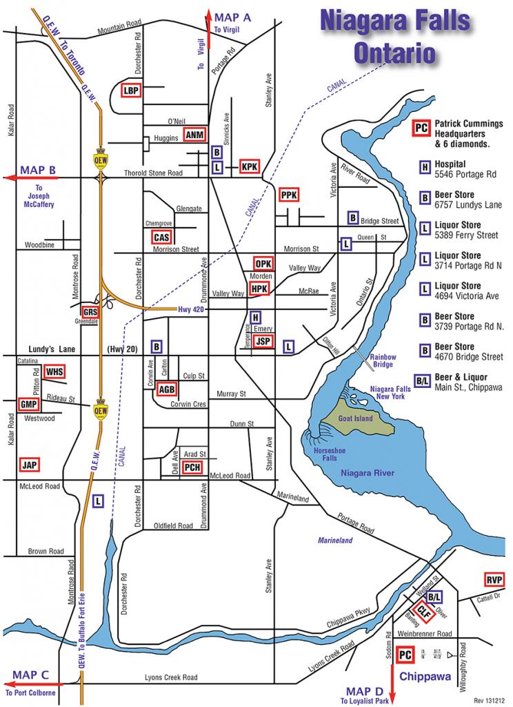 Niagara - Map Of Parks & Diamonds with regard to Printable Map Of Niagara On The Lake
