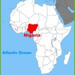 Nigeria Location On The Africa Map Inside Printable Map Of Nigeria