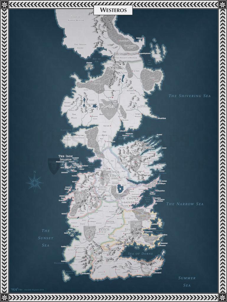 No Spoilers] Westeros Map : Gameofthrones inside Printable Map Of Westeros