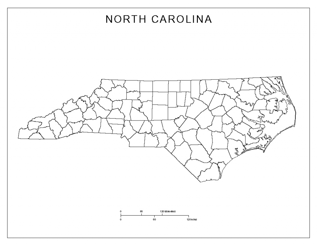 North Carolina Blank Map regarding South Carolina County Map Printable