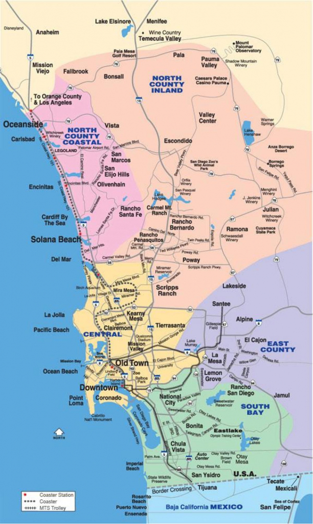 North County San Diego Map - Map Of North San Diego County with Printable Map Of San Diego County