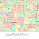 North Dakota Printable Map Intended For South Dakota County Map Printable