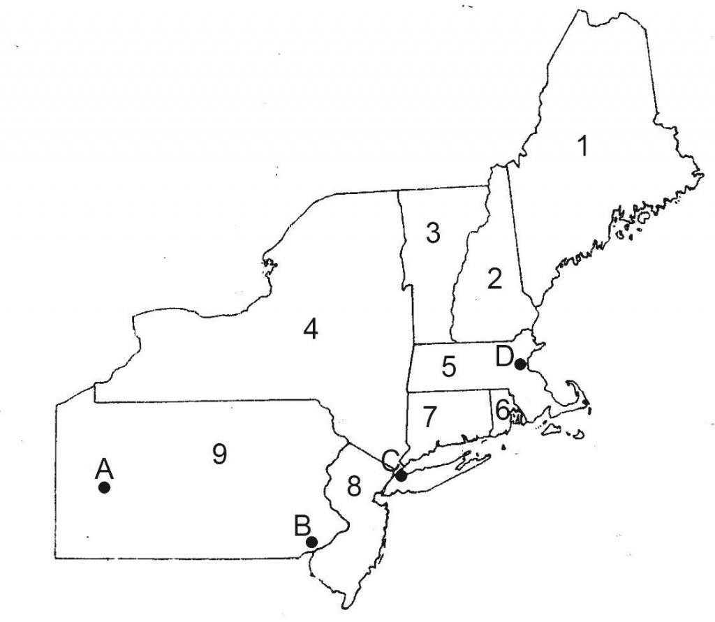 Northeast Conservation In A Changing Climate Map Of Northeastern within Printable Map Of North Eastern United States