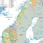 Norway |  And Administrative Map Of Norway With All Roads, Cities Intended For Printable Map Of Norway With Cities