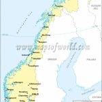 Norway Cities Map, Major Cities In Norway Intended For Printable Map Of Norway With Cities