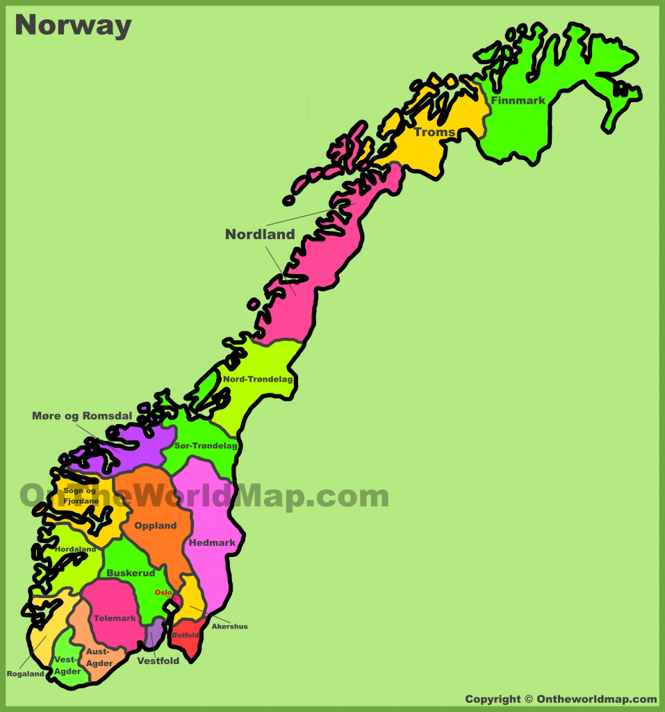 Norway Maps | Maps Of Norway in Printable Map Of Norway