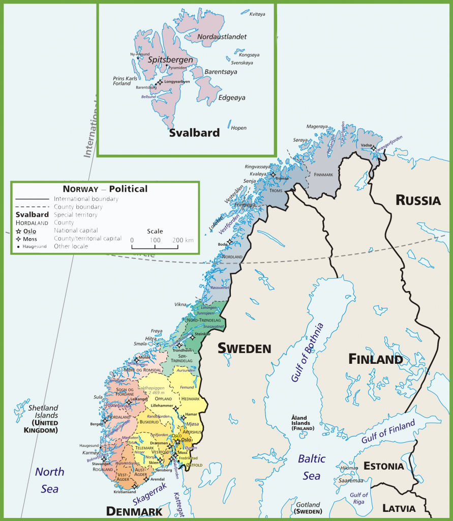 Norway Maps | Maps Of Norway - Printable Map Of Norway | Printable Maps in Printable Map Of Norway