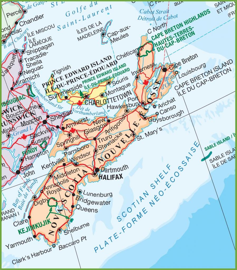 Nova Scotia Maps   Canada   Maps Of Nova Scotia (Ns) intended for Printable Map Of Nova Scotia Canada