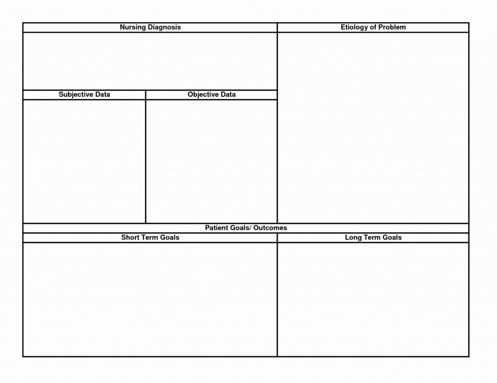 Nursing Care Plan Template Inspirational Nursing Care Plan Template regarding Blank Nursing Concept Map Printable