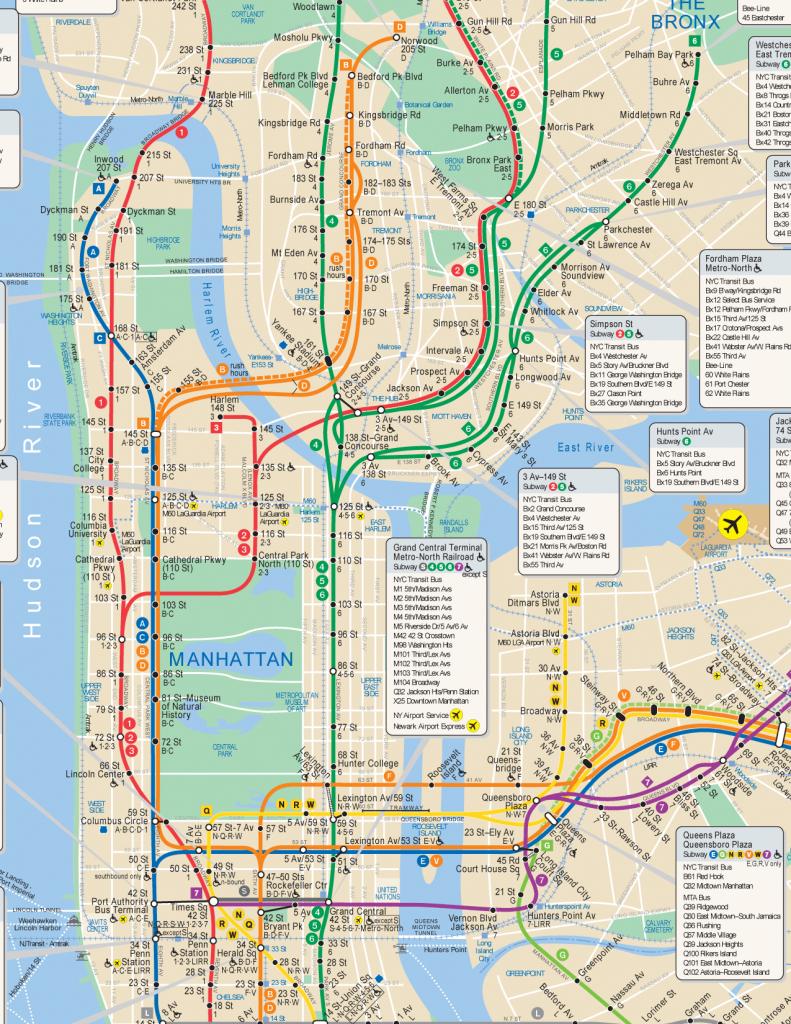 Nyc Subway Map Hi Res intended for Manhattan Subway Map Printable