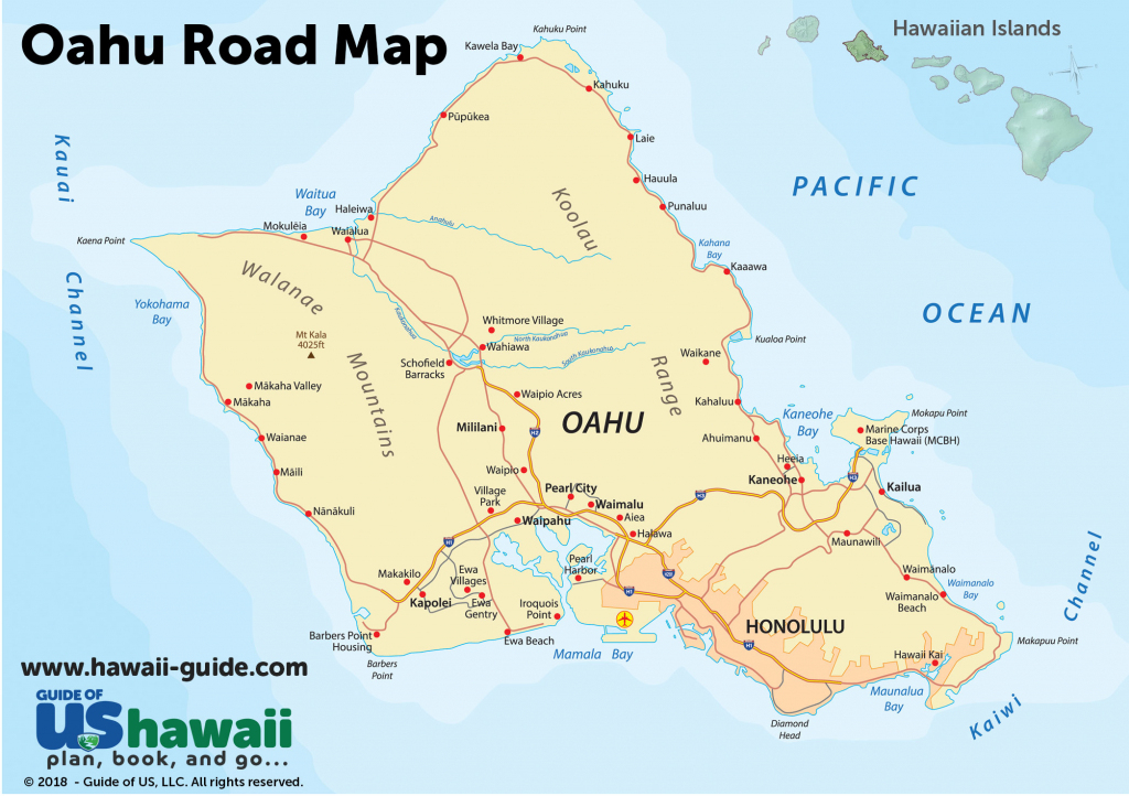 Oahu Maps intended for Oahu Map Printable