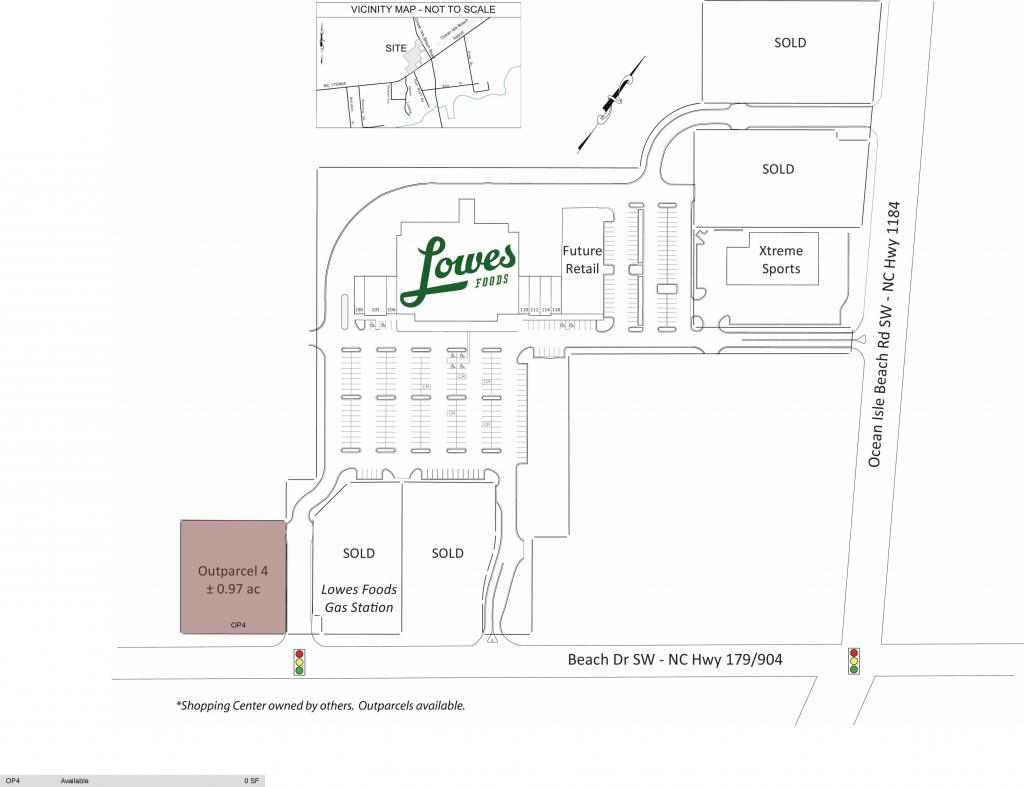Ocean Isle Beach Nc: The Landing At Ocean Isle Beach - Retail Space with regard to Printable Map Of Ocean Isle Beach Nc